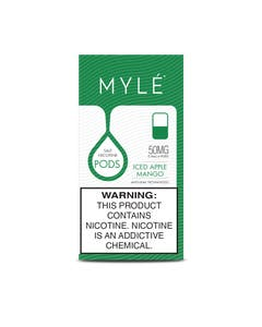 Myle V4 Iced Apple Mango 4 x 0.9ml Pods - 50mg/ml