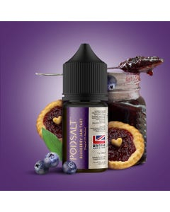 Pod Salt Fusion E-Liquid bottle Blueberry Jam Tart flavour