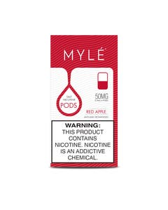 Myle V4 Red Apple 4 x 0.9ml Pods - 50mg/ml