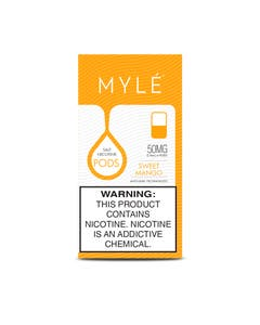 Myle V4 Sweet Mango 4 x 0.9ml Pods - 50mg/ml